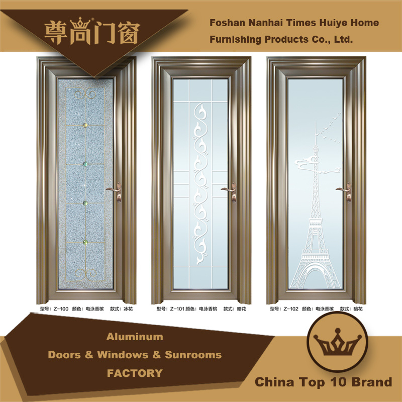 China Houses Decoration Champagne Colour Aluminium Doors With