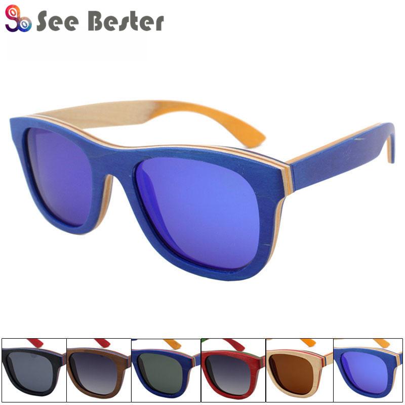 Handmade Unisex Wood Polarized Sunglasses Carved Wood Outdoor Fashion Glasses