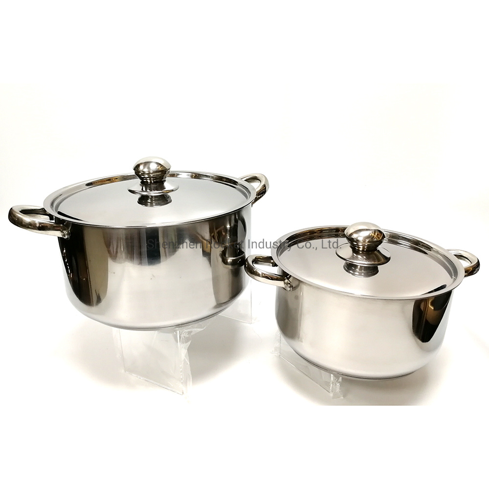 China Wholesale 12 Pcs Stainless Steel Kitchen Casserole Cooking Pot Set Stainless Steel Cookware Photos Pictures Made In China Com
