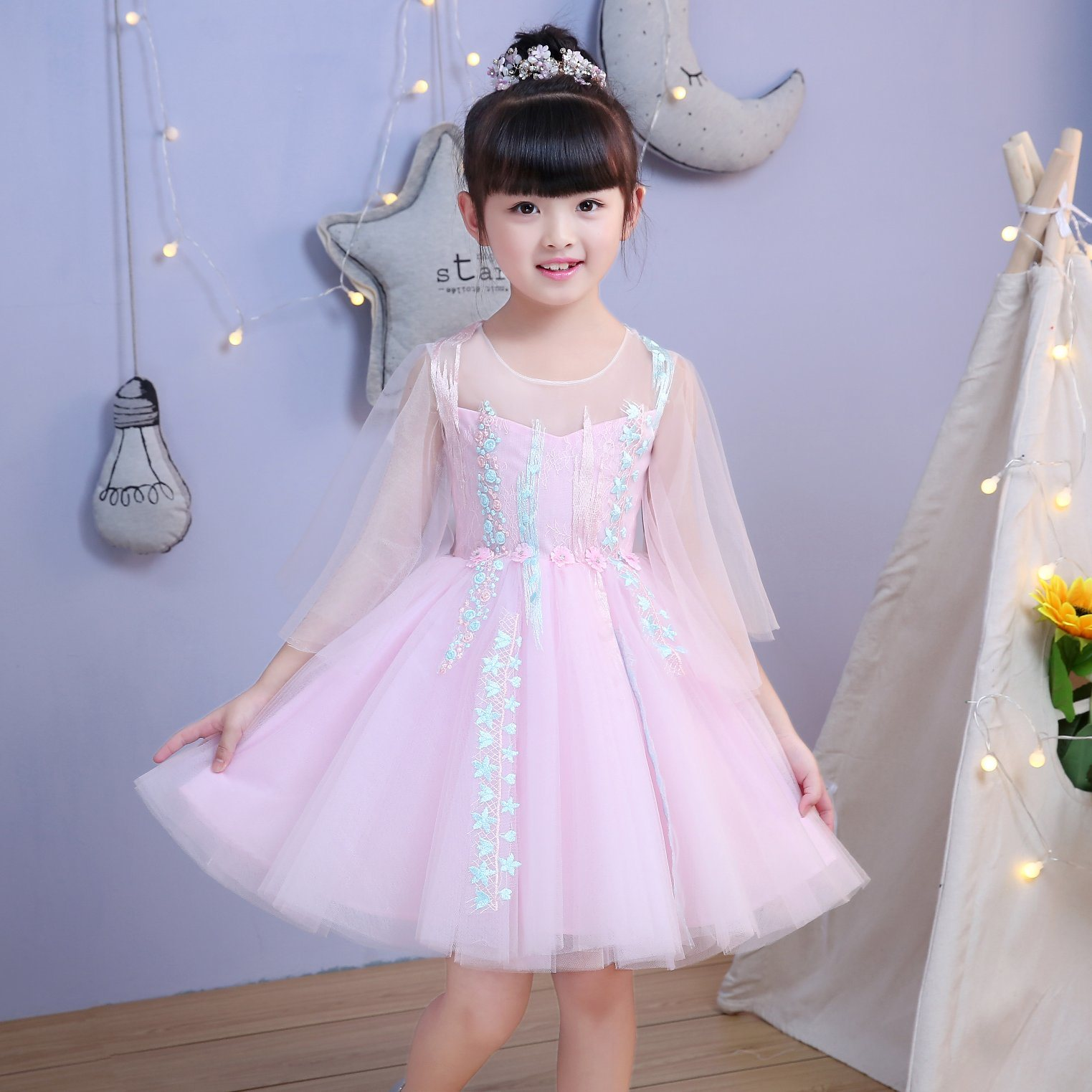d1c56cca3 China Lovely Little Girl Dress Factory Photos   Pictures - Made-in ...