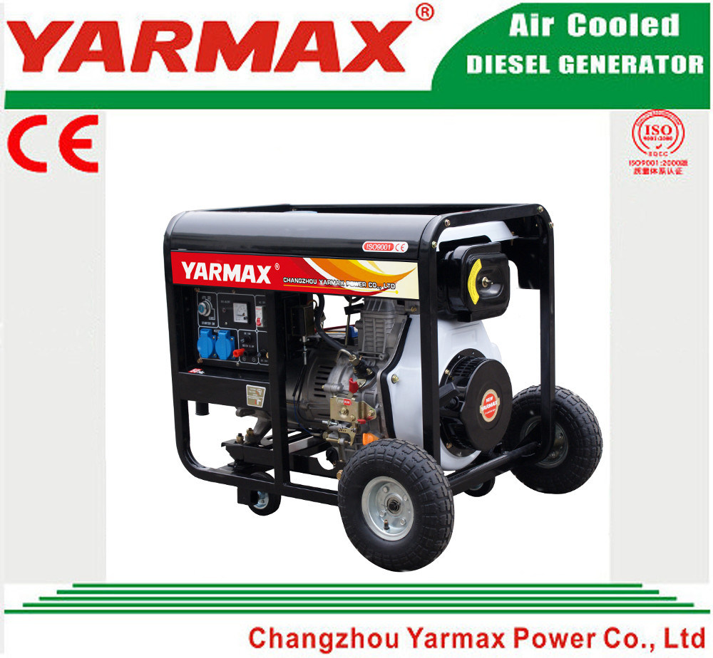 Yarmax Low Noise Air Cooled Diesel Engine Open Frame Diesel Generator Set Genset Ym7500eb-I pictures & photos