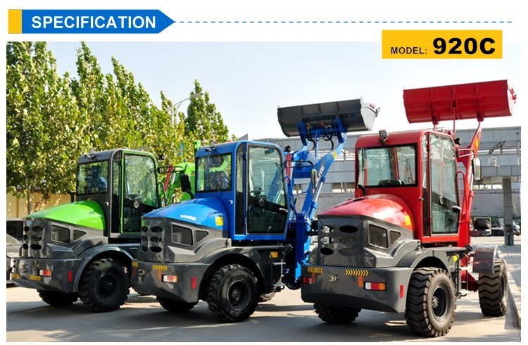 Popular China 1t Pay Small Wheel Loader in Euro pictures & photos