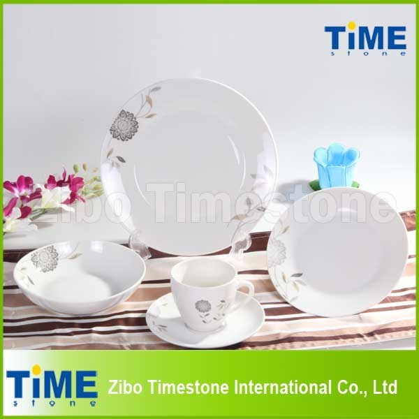 Wholesale White Ceramic Porcelain French Dinnerware