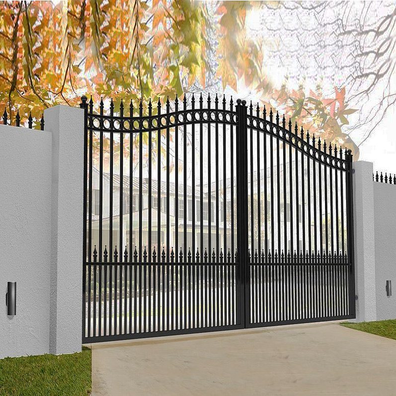 Hot Item Wrought Iron Door Gates House Gate Grill Designs Villa Metal Double