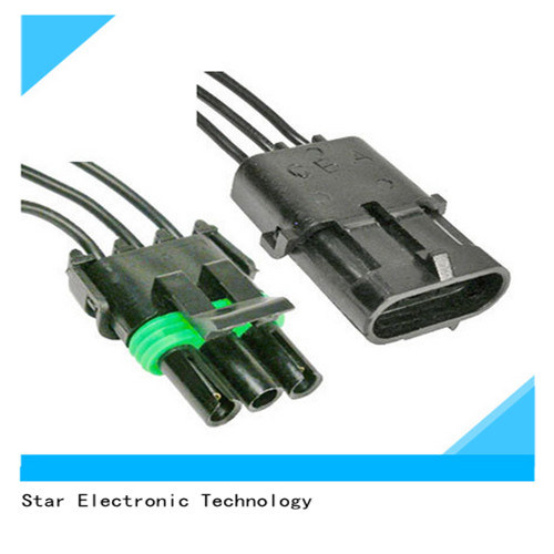 Excellent China Factory Price Auto 3 Pin Electronic Delphi Male Female Wire Wiring Digital Resources Ntnesshebarightsorg