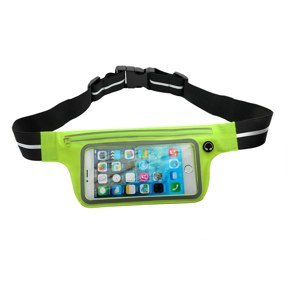 3ac3dd03a715 [Hot Item] Comfortable Waterproof Reflective Running Belt Waist Pack-Fanny  Pack Phone Holder for iPhone with PVC Window