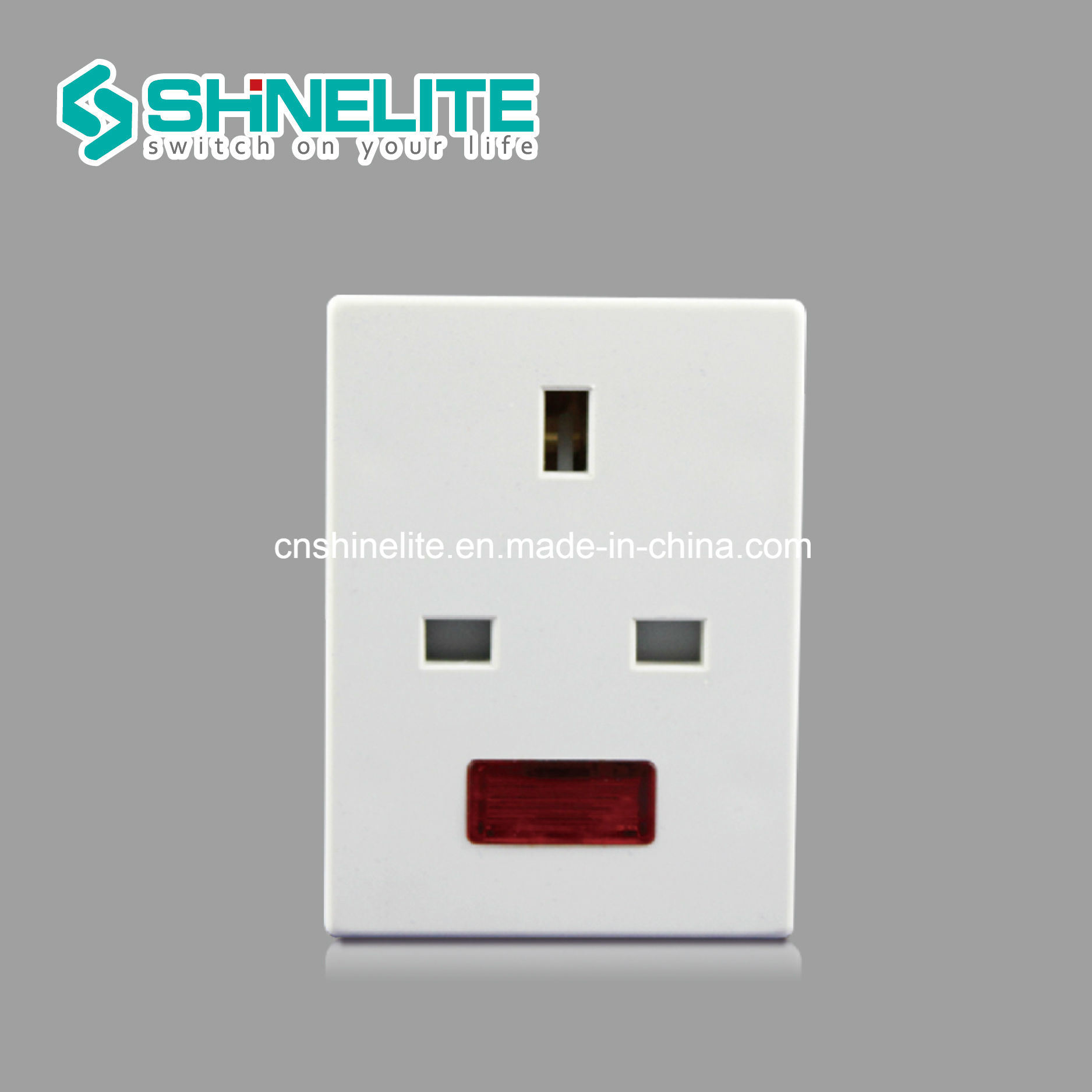 China Good Quality White Color 13a 3 Way Adaptor With Neon Switch Adapter Multi Function