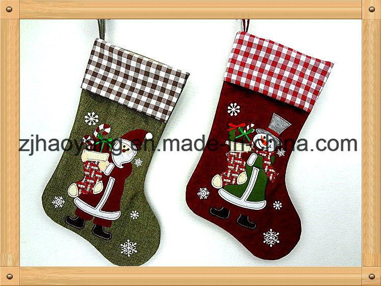 china wholesale burlap material 19 christmas stocking for home decor china xmas item stocking hangers handmade burlap stocking for christmas day - Wholesale Christmas Stockings