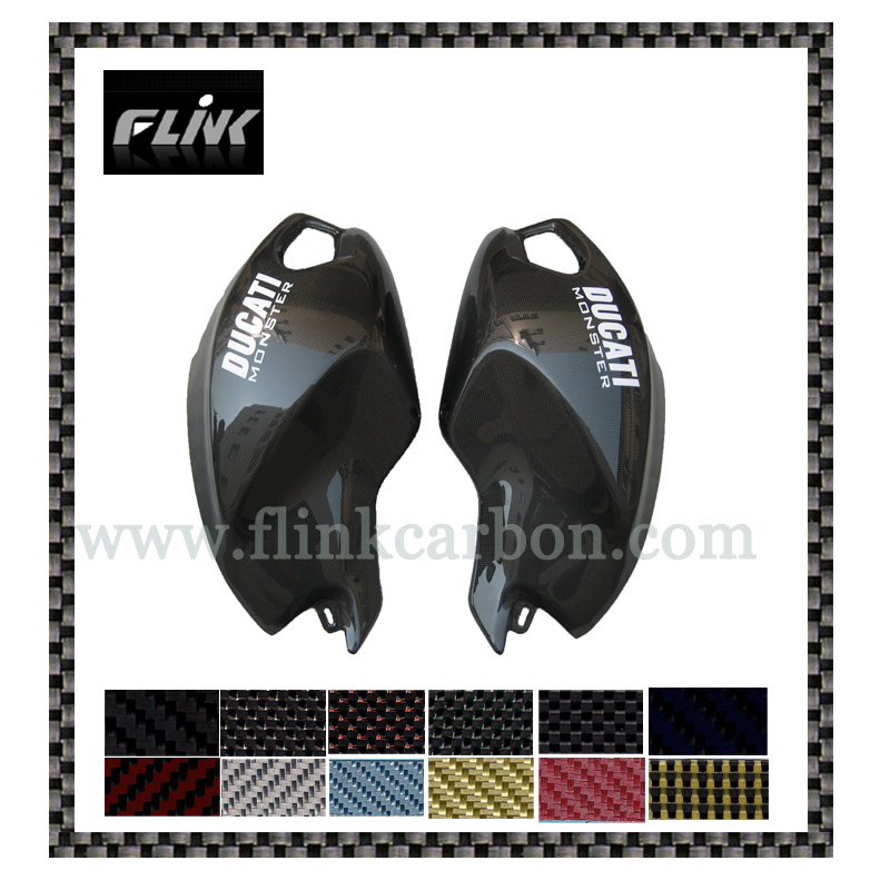China Carbon Fiber Side Tank Cover For Ducati Monster 696 08 China