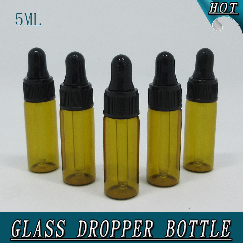 0.5oz 5ml Mini Amber Glass Bottle with Dropper Tubular Glass Vial pictures & photos