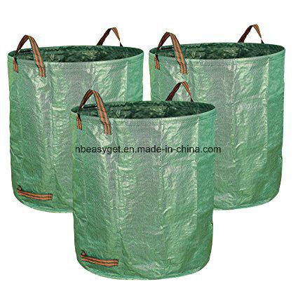72 Gallons Garden Waste Bags Bag Reuseable Heavy Duty Gardening Lawn Pool Leaf