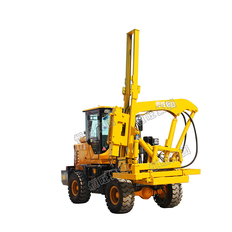 [Hot Item] Load Type Wheeled Hydraulic Hammer Press Screw Driving/Guardrail  Pile Driver for Foundation
