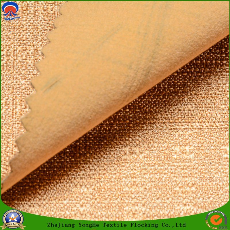 Woven Fabric Polyester Fabric Waterproof Fr Blackout Flocking Fabric for Curtain and Sofa