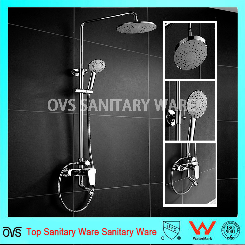 Bath Square//Round Massage Handheld Shower Spray Head /& Hose Set Multi Function