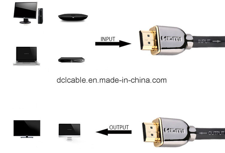 The Newest 4k*2k Resolution HDMI Cable Metal Shell