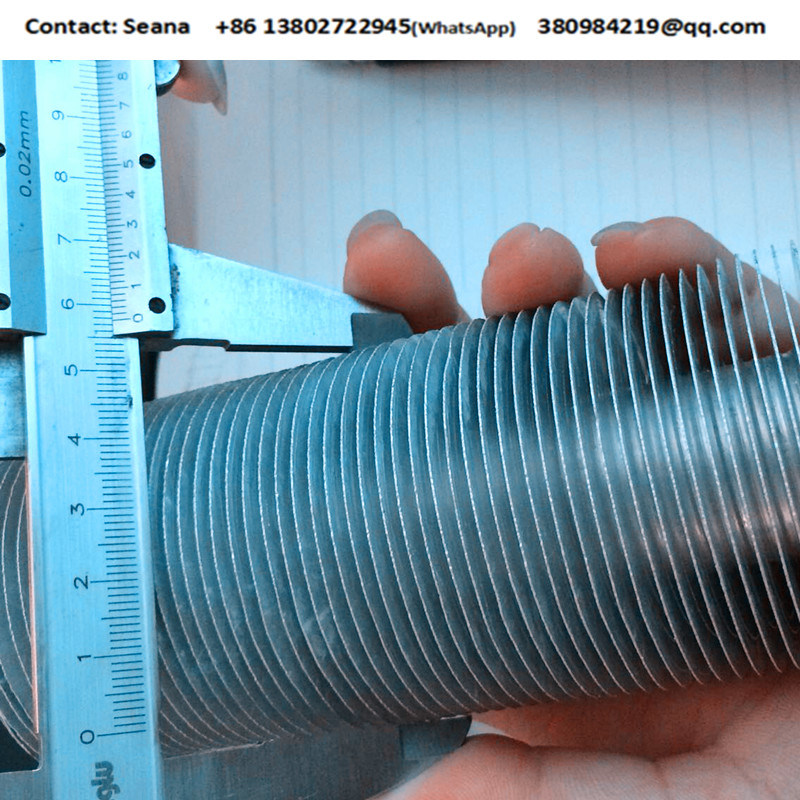 Copper Tube with Aluminum Fin in Extruded Type Finned Tube