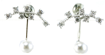 High Quality and Fashion Cheap Simple 925 Silver Earrings E6711 pictures & photos