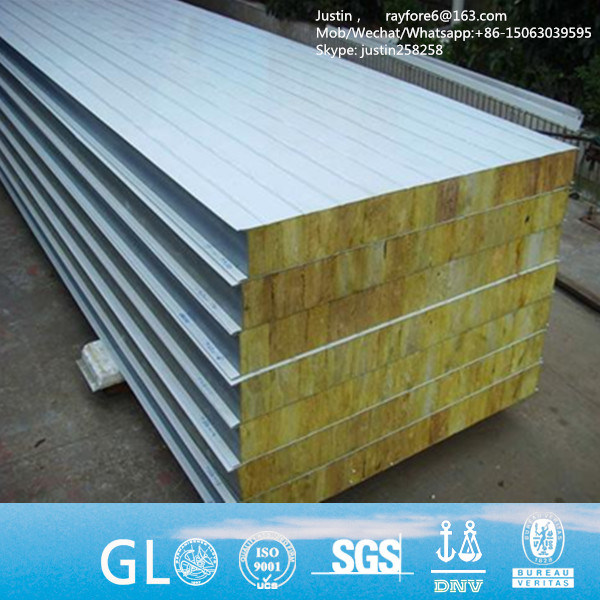 Factory Price Rockwool Sandwich Panel Insulated Steel Roofing Panels From China Supplier