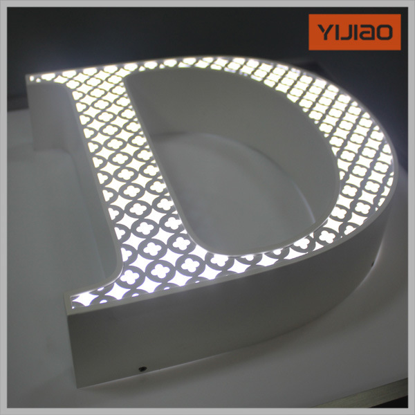 High Brightness Acrylic Front Lit Stainless Steel LED Channel Letters