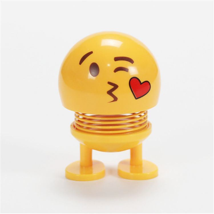[Hot Item] 2019 Hot Sale Emoji Spring Toy, Smile Face Shaking Head Action  Figure Doll, Smile Crying Spring Toy