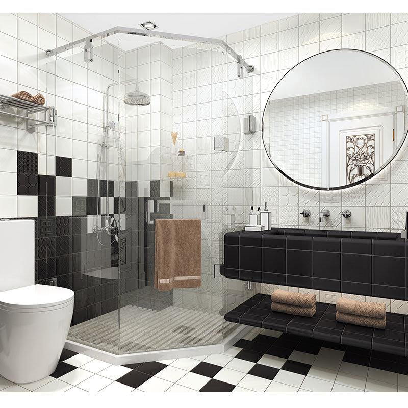 15 15cm 6 6inch Ceramic Black Tiles
