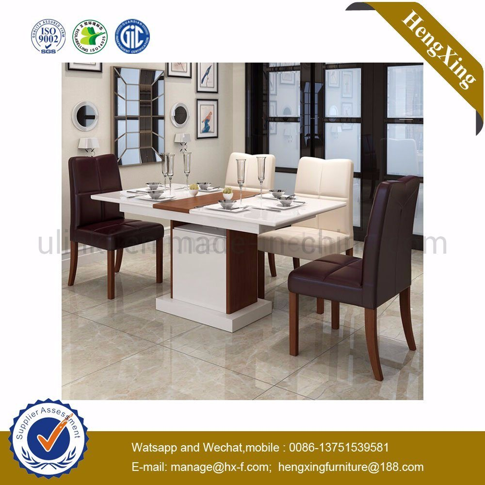 Hot Item Modern Mdf Wooden Steel Folding Living Room Canteen Hotel Dining Furniture Hx 8dn001