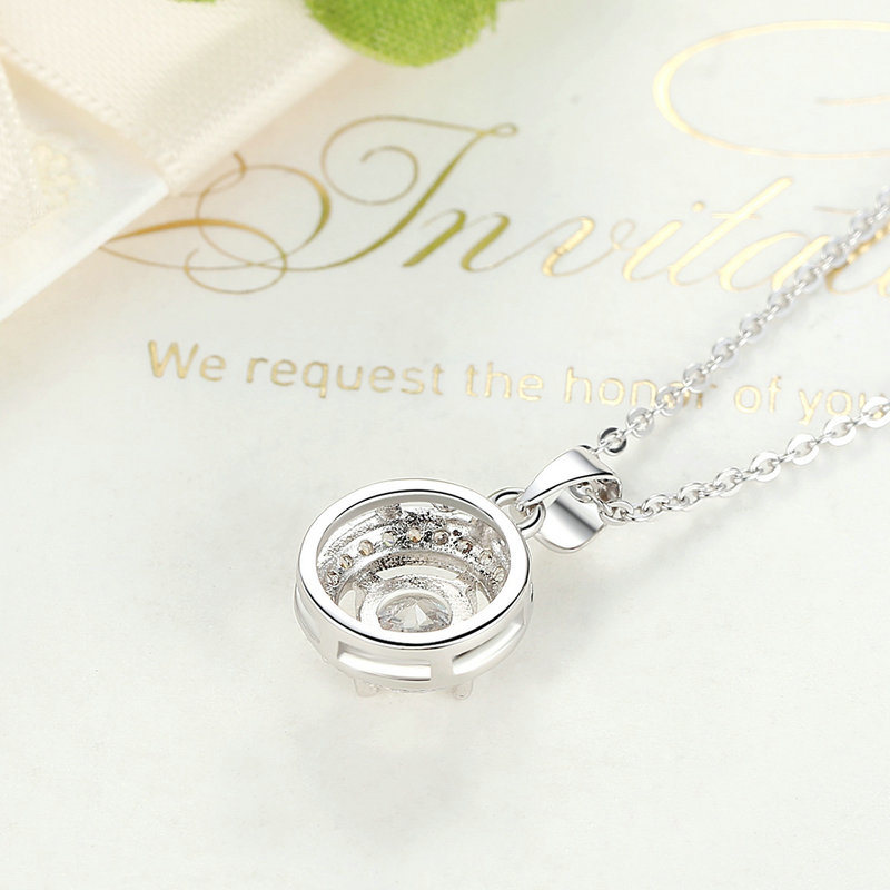 Brass Round Pendants Necklace Women Fashion Jewelry Necklaces