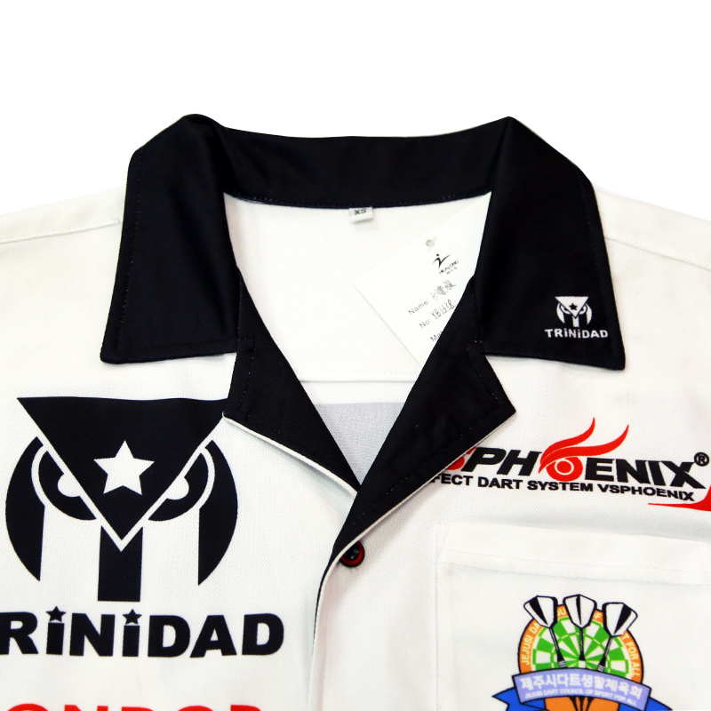 Healong Custom Digital Printing Dart Jersey Dry Fit Dart Polo Shirts pictures & photos