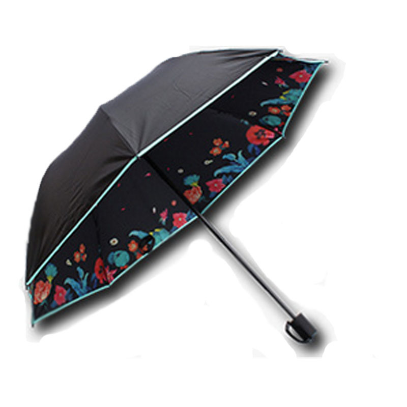 Chinese Factory Best Quality 8 Ribs Manual Open and Close Folding Umbrella pictures & photos