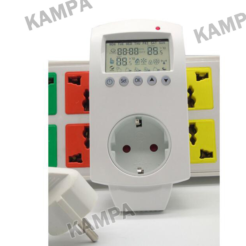 China A Thermostat Socket For Room Electric Floor Heating System - Heated floor timer
