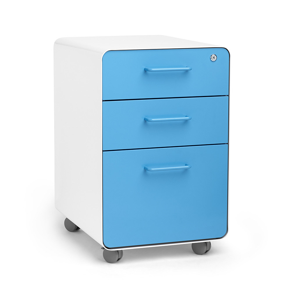 China Small 3 Drawer Under Desk Mobile Filing Cabinet For Office