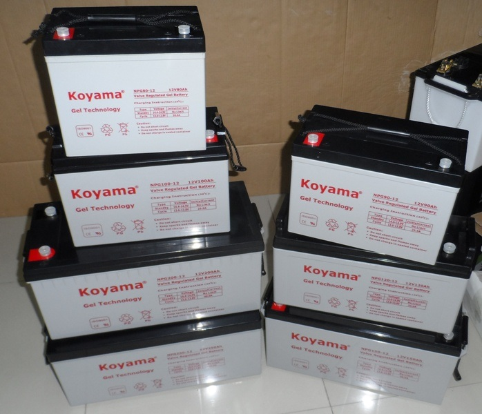 Koyama Gel Storage Battery 250ah 12V for Solar Power pictures & photos