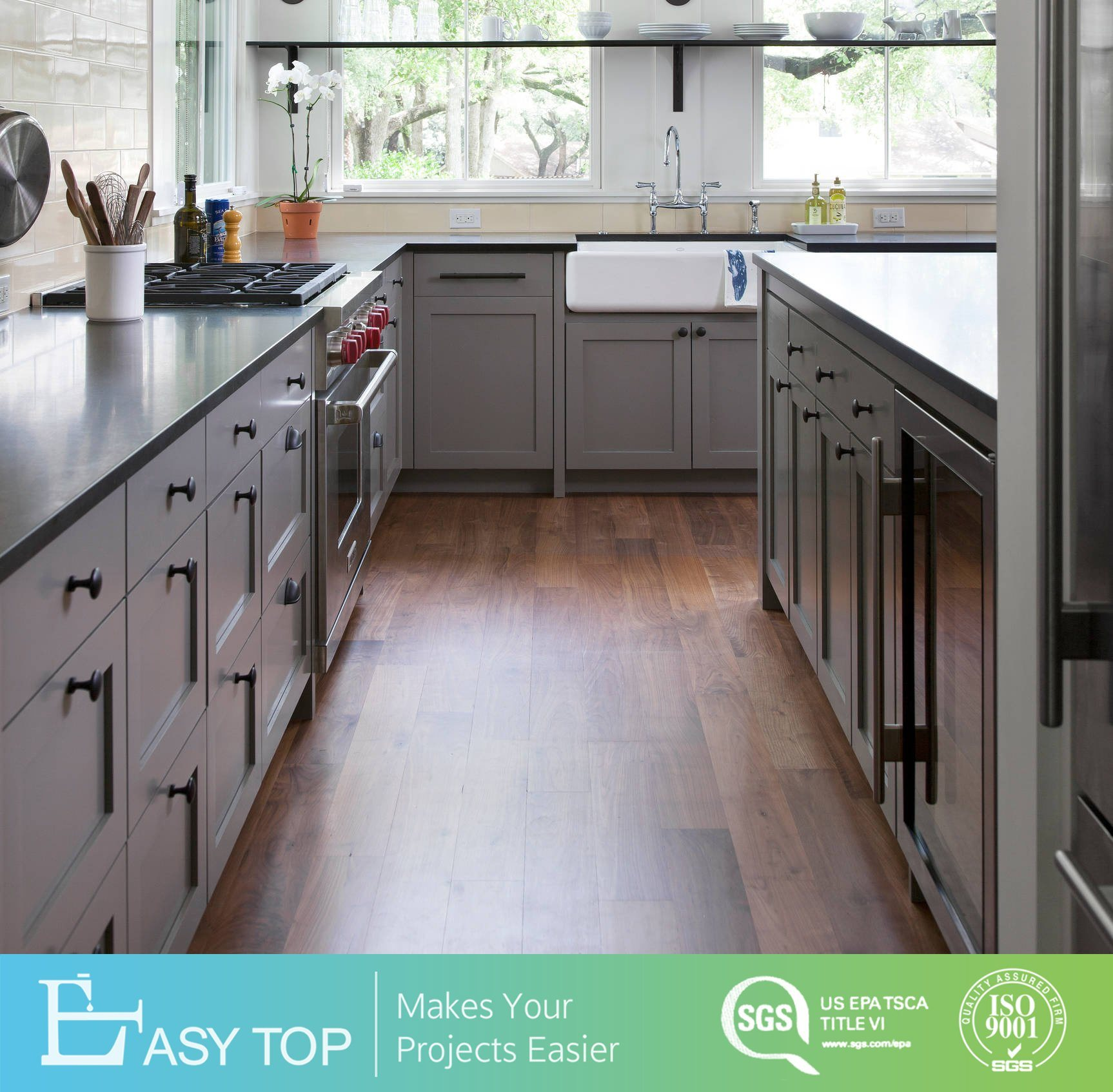 China Canada Latest Modern Economical Solid Wood Kitchen Cabinet With Granite Countertops China Kitchen Cabinets Kitchen Cabinetry