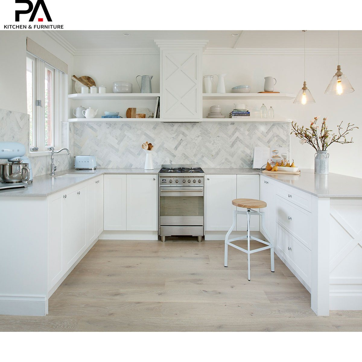 China High End Solid Wood Pvc U Shape Fancy Kitchen Cabinet For Sale China Kitchen Cabinet Modular Kitchen Cabinet