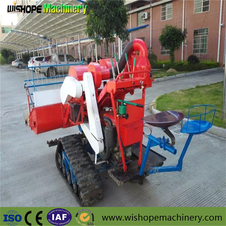 Crawler 0.8kg/S Feeding Capacity Mini Combine Harvester pictures & photos