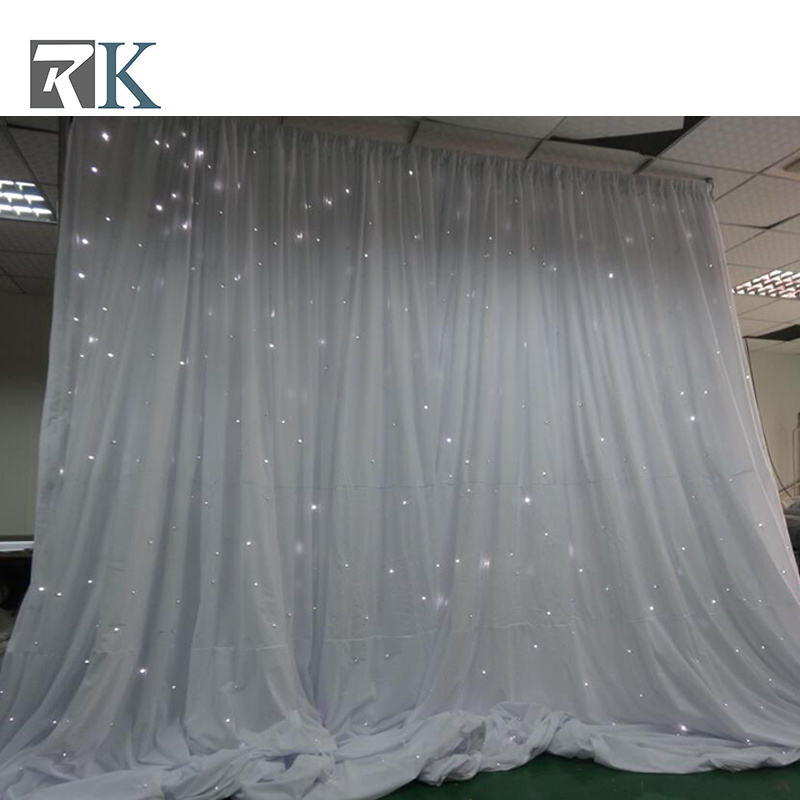 China Light Up Rgb Led Star Curtain For Backdrop Wedding Event