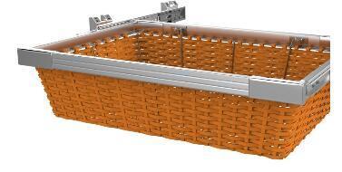 China Wardrobe Accessories Closet Basket Sliding Wire Basket Pull