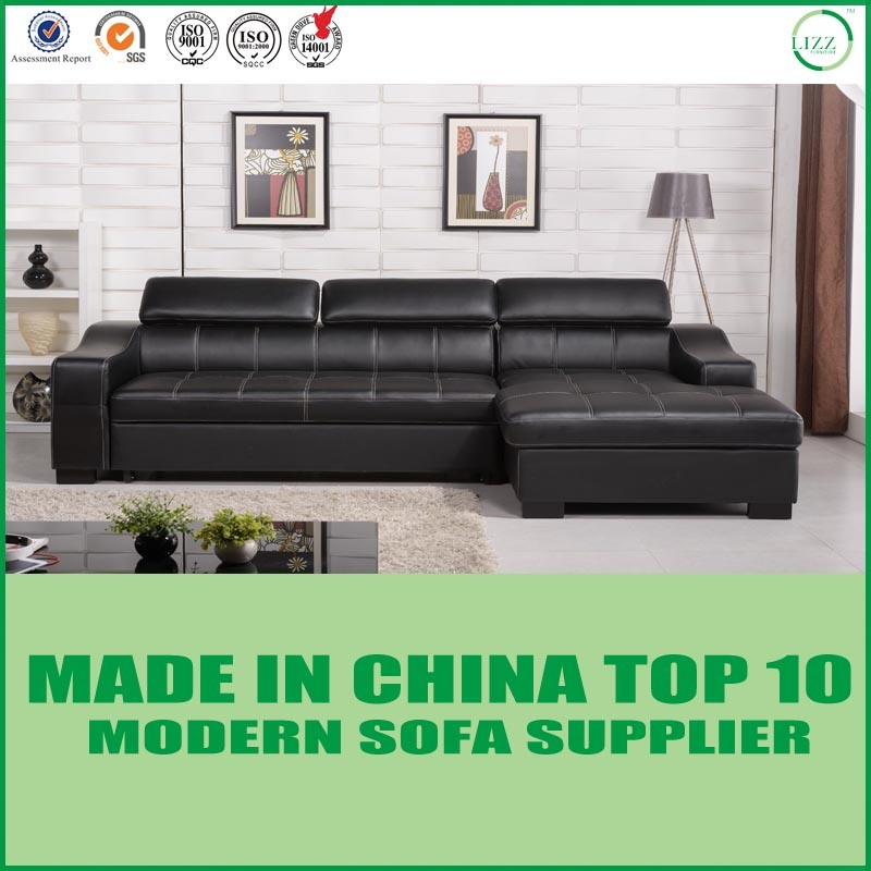 China Modern Italian Leather Sofa Bed with Storage Photos ...
