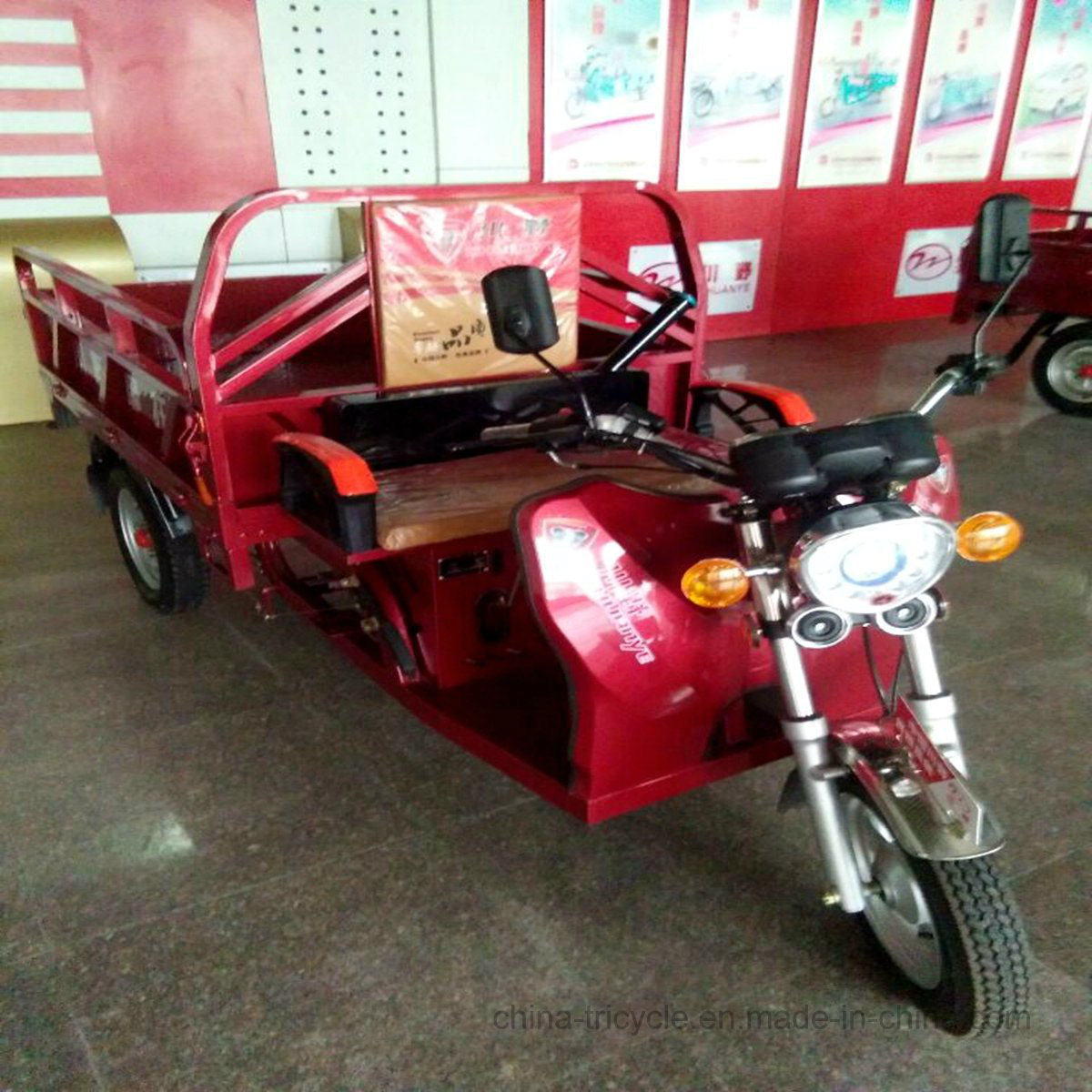 Bicycle Three Wheel Motorized Mini Passenger Truck with Large Cargo pictures & photos