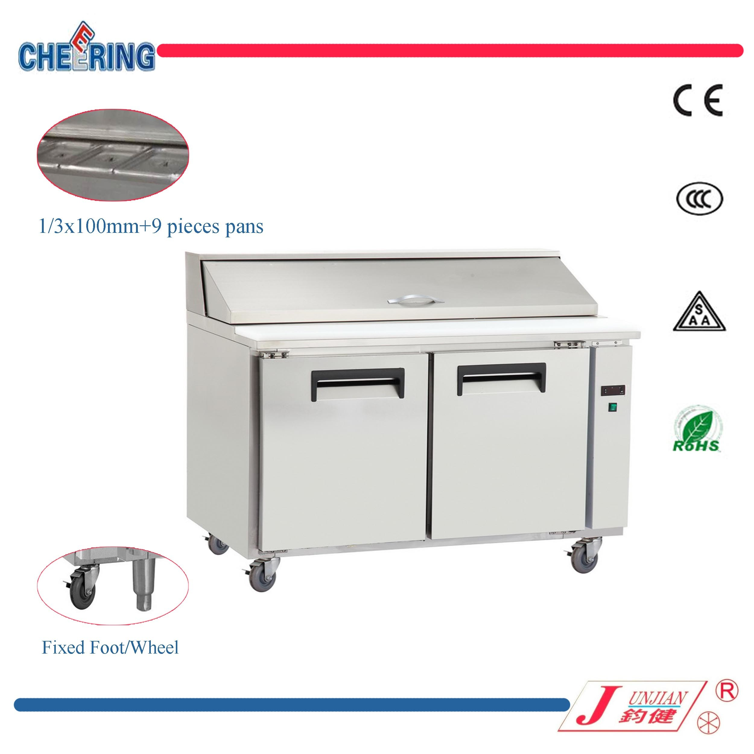 China Pizza Sandwich TableSalad Workbench Refrigeratorpizza Prep - Sandwich prep table for sale