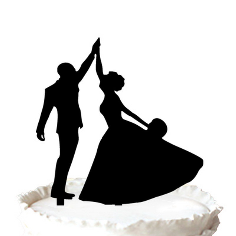 China Wedding Cake Topper Bride And Groom Dancing