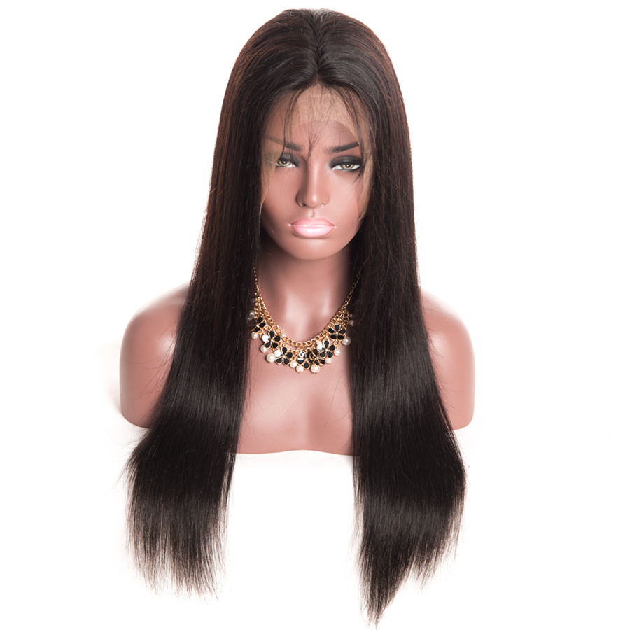 China Shine Silk 360 Lace Frontal Wig For Black Women 150 Density Pre Plucked Brazilian Straight Lace Front Human Hair Wigs China Lace Wig And Human Hair Wig Price