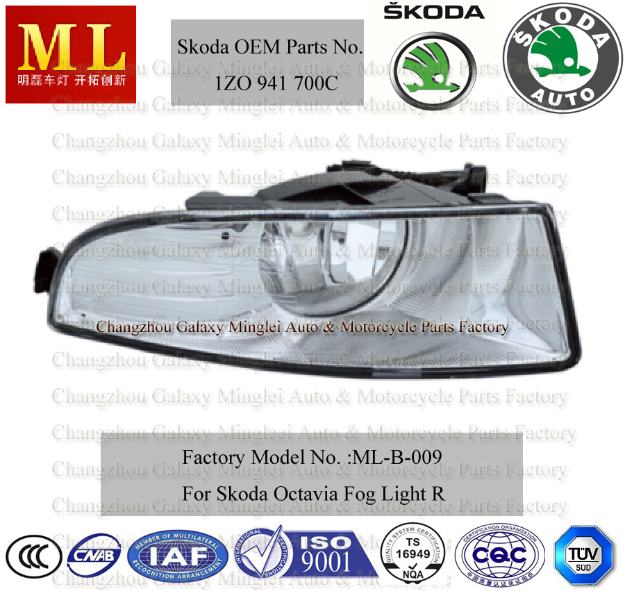 Fog Lamp for Skoda Octavia Car From 2008 (2ND generation) with OEM Parts No. 1zd 941 700c