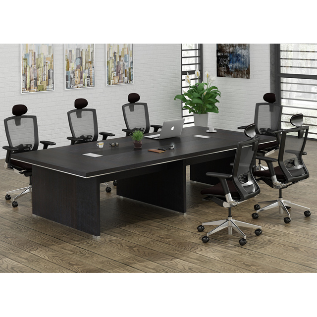 China Latest Design Office Meeting Room Desk And Chairs Combination - Desk with meeting table