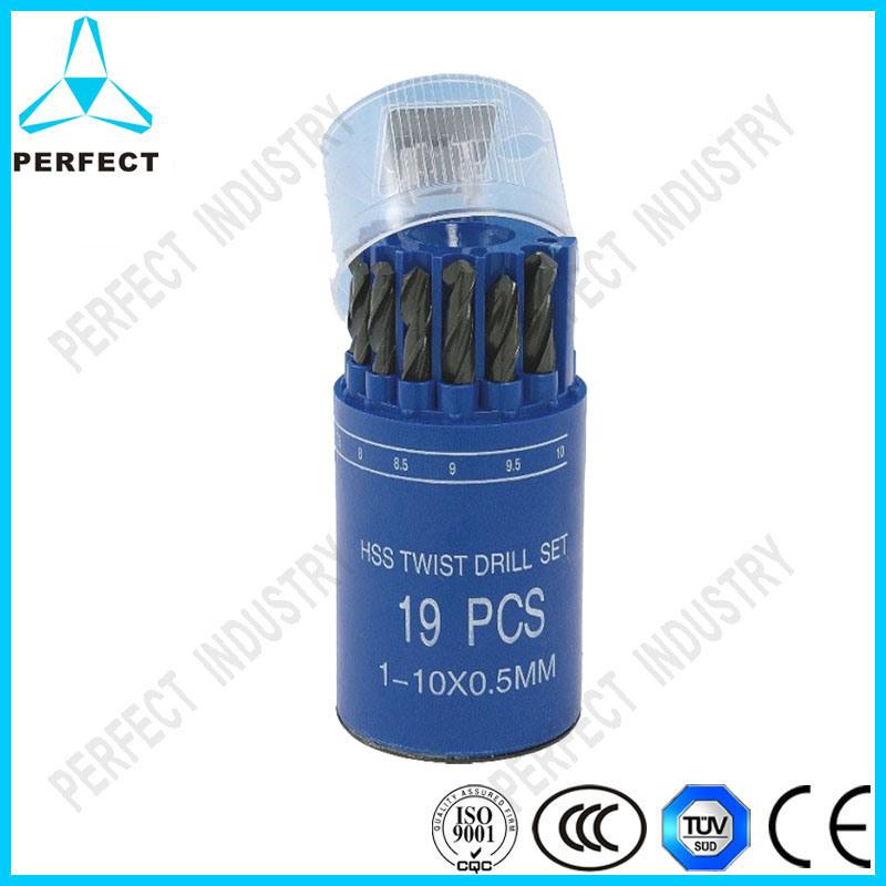 China 19-Piece Black Oxide HSS 4341 Twist Drill Bit Set - China HSS ...
