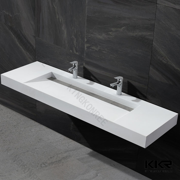 Double Sink Solid Surface Resin Stone