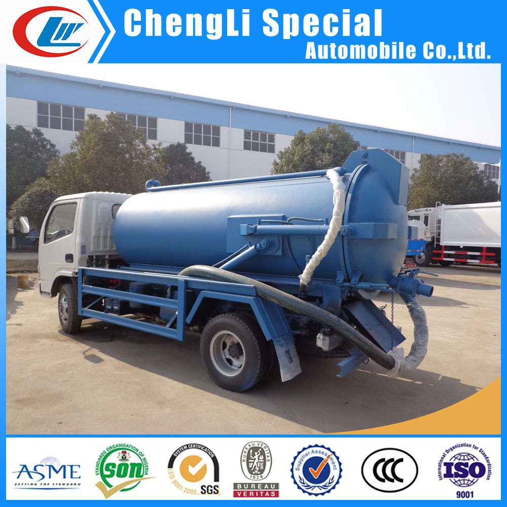 [Hot Item] 5ton Sewer Suction Scavenger Tank 5000L Septic Tank Truck for  Sale