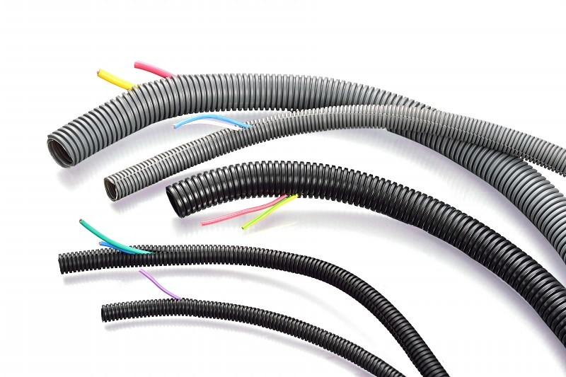 China Pa  Pe  Pp Material Split Conduit For Automotive Wire Harness