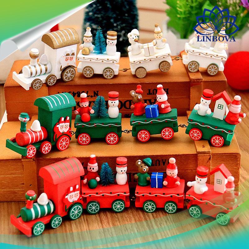 China New Christmas Train Painted Wood with Santa / Bear Kid ...