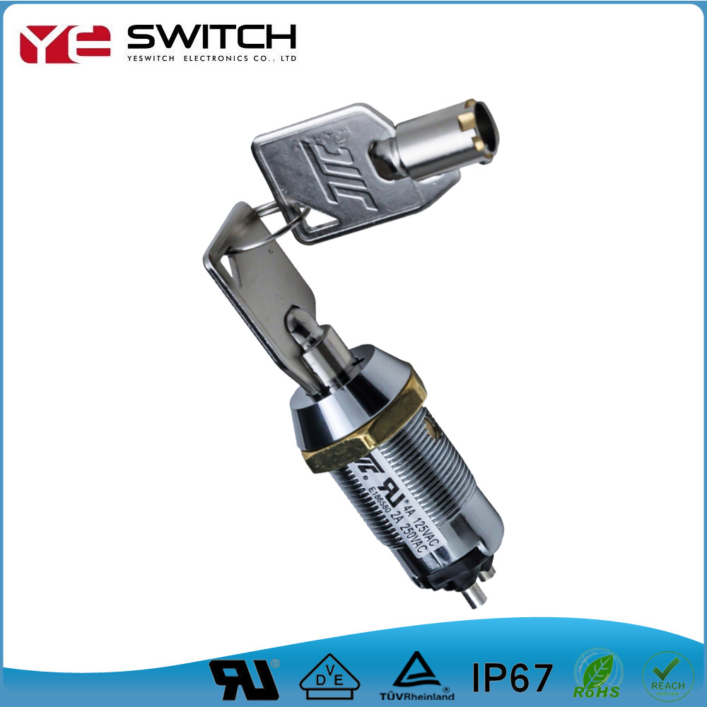 China Zinc Alloy Momentary Electrical 2-3 Position Power